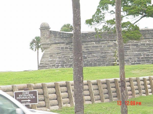 View of Castillo de San Marco St Augustine Florida