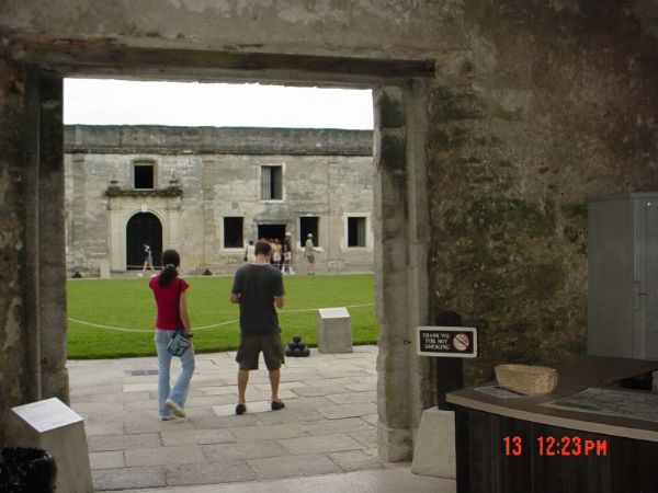 View of Castillo de San Marco St Augustine Florida