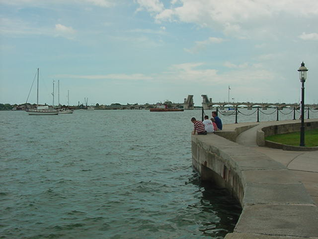 Matanzas Bay and River looking toward the Bridge of Lions St. Augustine