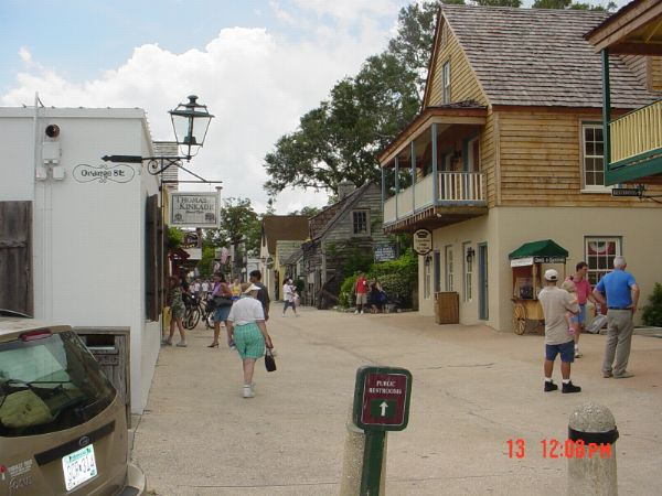 Street in Old St. Augustine Florida