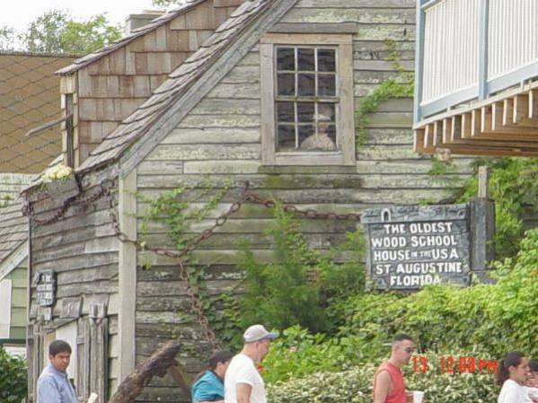 the oldest wooden schoolhouse St. Augustine Florida