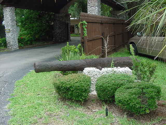 Ancient cannon at the Fountain of Youth St. Augustine Florida