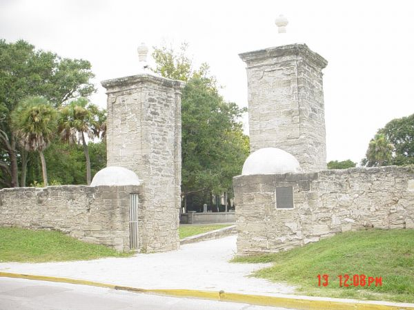 View of the City Gates St Augustine Florida