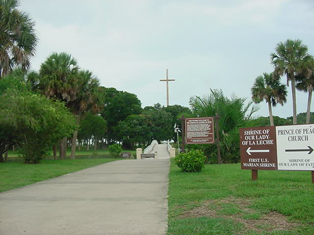 The Cross at the Mission St Augustine Florida